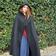 Leonardo Carbone Wollen mantel Felis, zwart