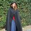 Wollen mantel Felis, zwart