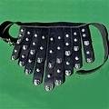 Deepeeka Cinturón delantal griego en cuero