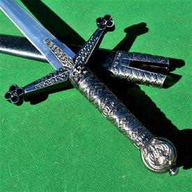 Epée courte, motifs quadrilobés