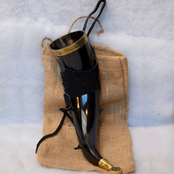 Windlass Drickshorn Rollo med läderhållare