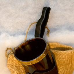 Bocina Rollo con soporte de cuero