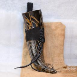Trinkhorn Gorm mit Lederhalter