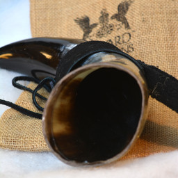 Drinking horn Odin with leather holder