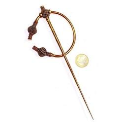 Viking thistle fibula large, bronze
