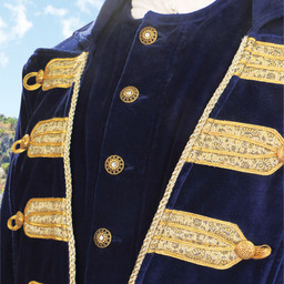 Piratenmantel Captain Flint blauer Samt