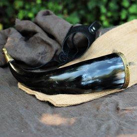 Windlass Steelcrafts Drinkhoorn Rollo met leren houder