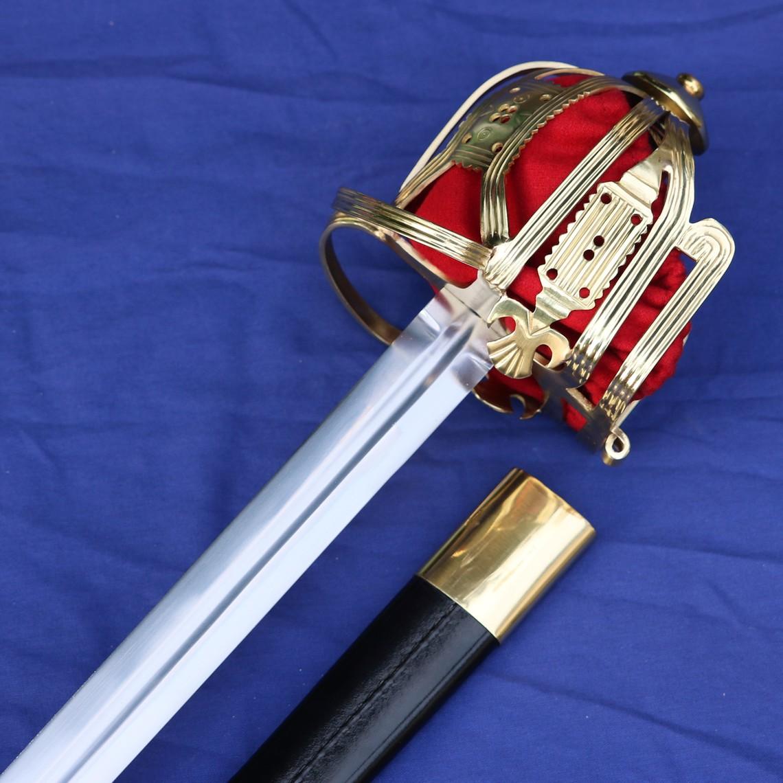 Windlass Steelcrafts Culloden Claymore escocesa espada cesta de la empuñadura