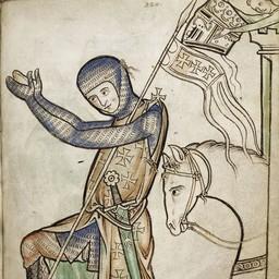 Middeleeuwse pothelm Westminster Psalter