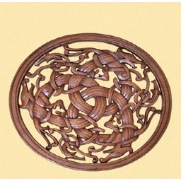 Borre style Viking woodcarving