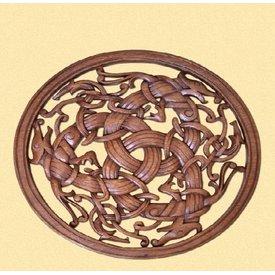 Borre-stil Viking træskærearbejde