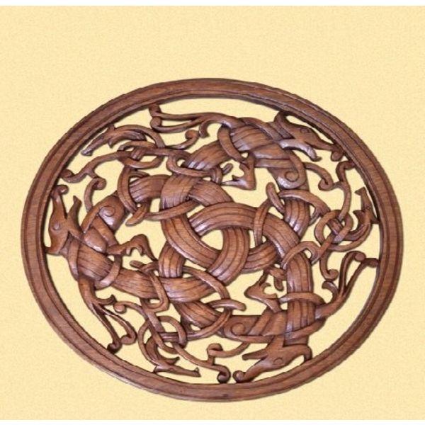 Borre-stijl Viking houtsnijwerk