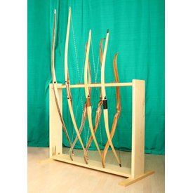 Bow stands from wood for 8 bows