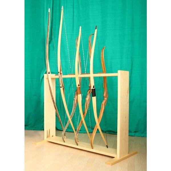 Bow stoisko z drewna do 8 łuków