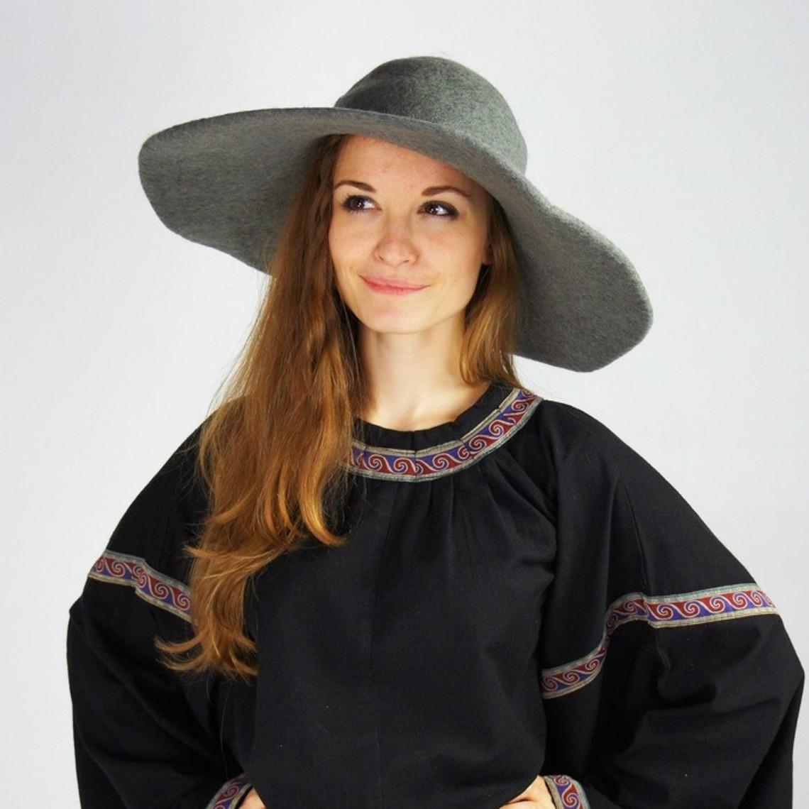 Leonardo Carbone Historische hoed met rand, grijs