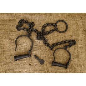 Deepeeka Esposas para tobillos con la cadena