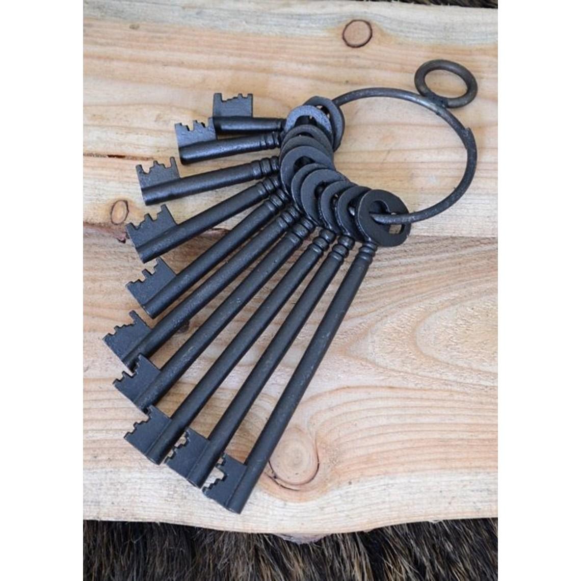 Deepeeka Set van tien historische sleutels