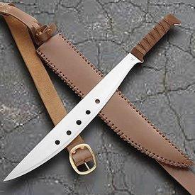 Windlass machete con vaina de cuero auténtico