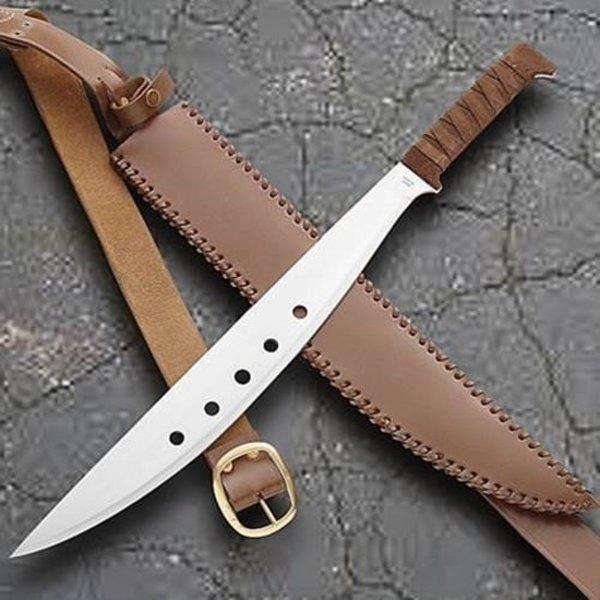 Windlass Steelcrafts Autentisk machete med læder skede