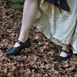 Średniowieczne obuwie damskie Astrid, czarne