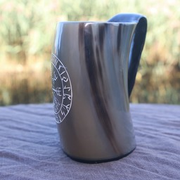 Kubek z rogu Vegvisir jasny 0,5L