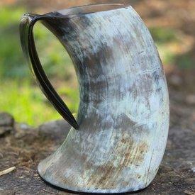 Epic Armoury Tasse en corne Viking Arne claire 1L
