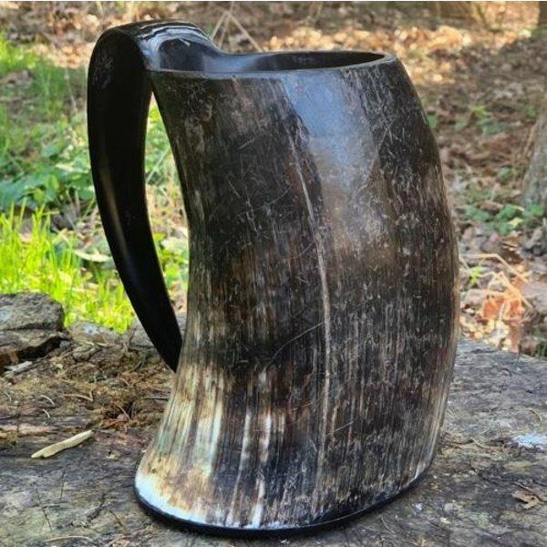 Epic Armoury Tasse en corne Viking Arne foncé 1L