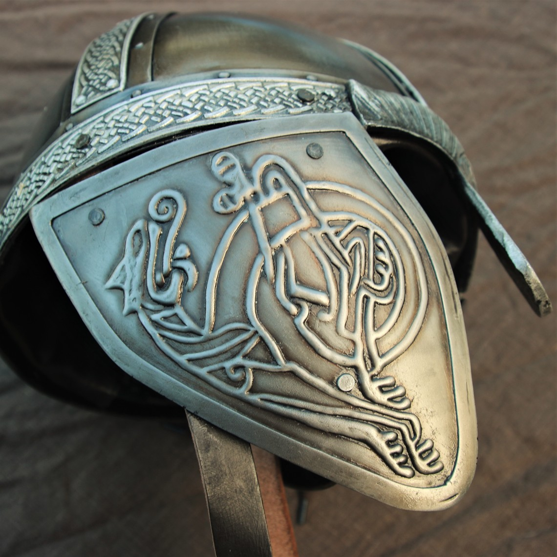 Windlass Steelcrafts Casco vikingo con los dragones