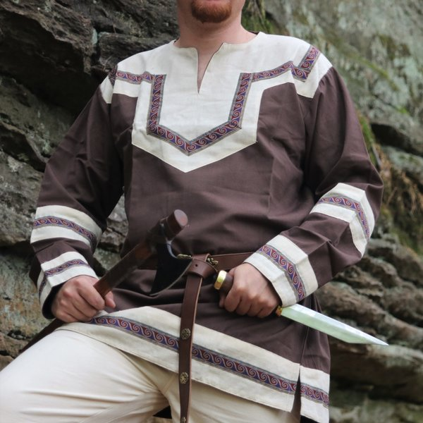Embroidered Celtic tunic