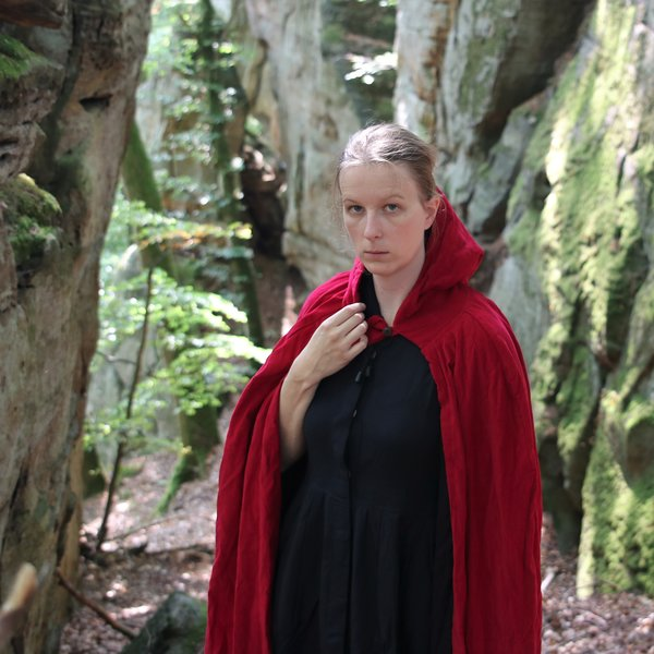 Leonardo Carbone Fløjlsfrakke uden for, rød