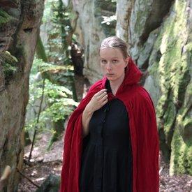 Leonardo Carbone Fluwelen mantel met voering, rood