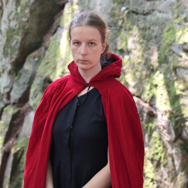 Leonardo Carbone Fløjlsfrakke med foring, rød