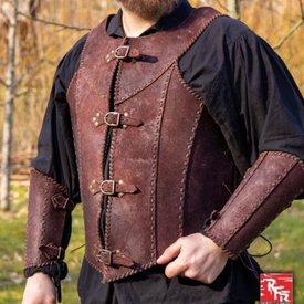 Epic Armoury Brigantina con cinture, marrone