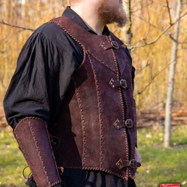 Epic Armoury Brigandine med bælter, brun