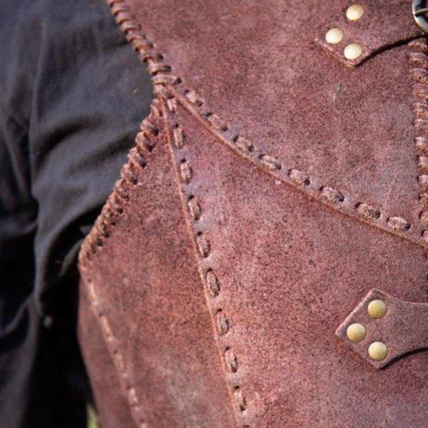 Epic Armoury Brigandine med bälten, brun