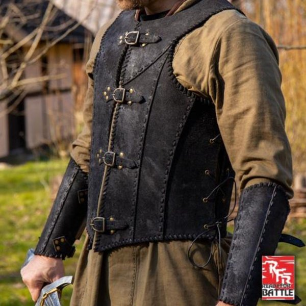Epic Armoury Brigandine with belts, black