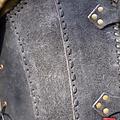 Epic Armoury Brigandine met riemen, zwart