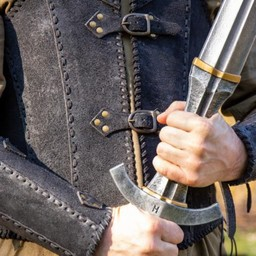 Brigandine with belts, black
