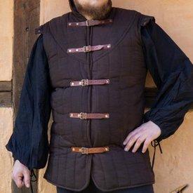 Epic Armoury Middeleeuwse gambeson Warrior bruin mouwloos