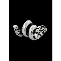 Viking Bart Perle mit Wolf Silber
