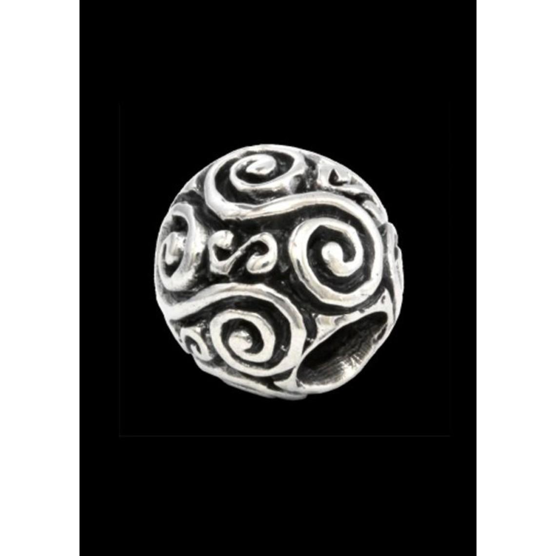 Beardbead con doppia spirale d'argento