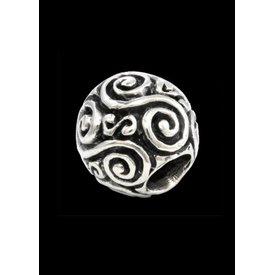 Beardbead med dubbel spiral silver