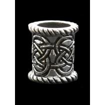 Silver Celtic beard bead