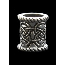 Sølv Keltisk skæg perle