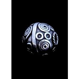Tradycyjne Celtic broda koralik srebrny