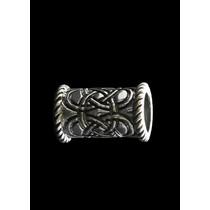 Długa broda Celtic koralik srebrny