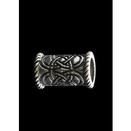 Lange Celtic Bart Perle Silber