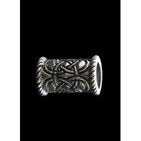 Lång Celtic beardbead silver