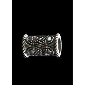 Lange Keltische baardkraal zilver