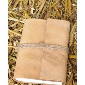 Lille lommebog med læderbetræk